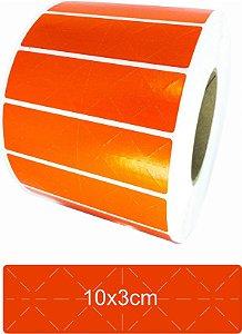-Lacre para Personalizar 10x3 Vermelho Rolo C/3000