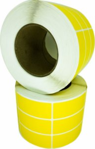 -Lacre para personalizar 7x3/3 rolo com 3.000 Amarelo