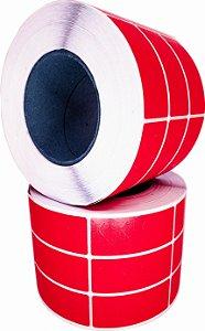 -Lacre para personalizar 7x3/3 rolo com 3.000 Vermelho