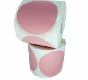 -Etiqueta 6,5x6,5/1 Rolo C/500 Rosa