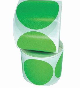 -Etiqueta 6,5x6,5/1 Rolo C/500 Verde