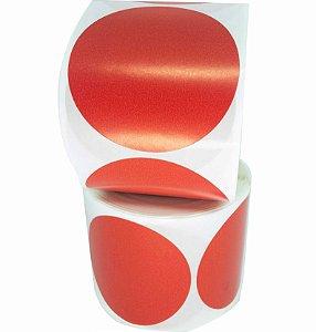 -Etiqueta 6,5x6,5/1 Rolo C/500 Vermelho