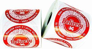 -Lacre Delivery Redondo 6,5x6,5/1 Rolo C/500 Vermelho
