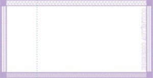 -Ingresso Couche Simples 95x48mm Roxo