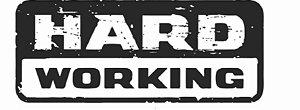 Adesivo Fiat Strada Hard Working Tampa Traseira