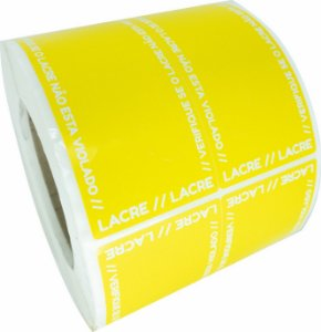 Lacre Delivery Para Personalizar 12x5 Amarelo C/ 1.000un