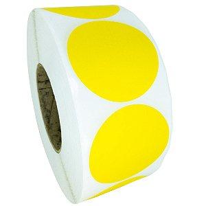 -Etiqueta 6,5x6,5/1 Rolo C/2000 Amarelo