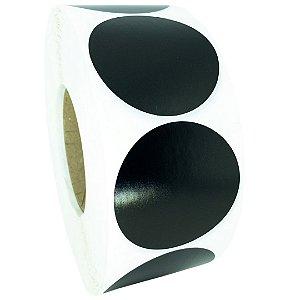 -Etiqueta 6,5x6,5/1 Rolo C/2000 Preto