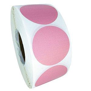 -Etiqueta 6,5x6,5/1 Rolo C/2000 Rosa