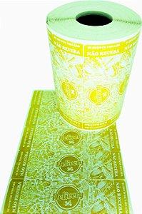 -Lacre para Delivery 10x3 Amarelo Rolo c/1000