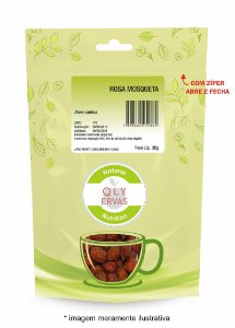Pacote Rosa Mosqueta Qly Ervas 30g