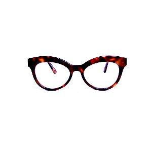 Armação para óculos de Grau Gustavo Eyewear G38 15. Cor: Animal print. Haste animal print.