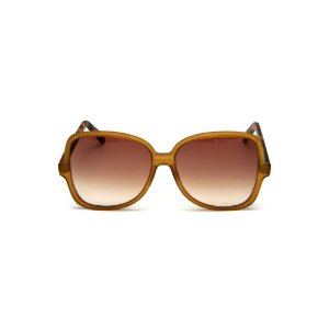 Óculos de Sol Gustavo Eyewear G110 1. Cor: Âmbar. Haste animal print. Lentes marrom.