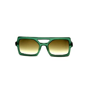 Óculos de Sol Gustavo Eyewear G114 14 Cor: Verde translúcido. Haste verde. Lentes verdes.
