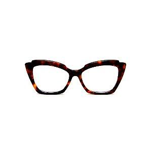 Armação para óculos de Grau Gustavo Eyewear G111 1. Cor: Animal print. Haste animal print.