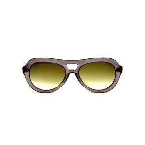 Óculos de Sol Gustavo Eyewear G113 11. Cor: Fumê fosco translúcido. Haste preta. Lentes verdes.