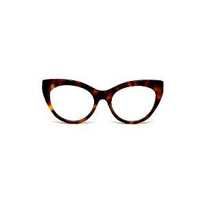Armação para óculos de Grau Gustavo Eyewear G65 1. Cor: Animal print. Haste animal print.