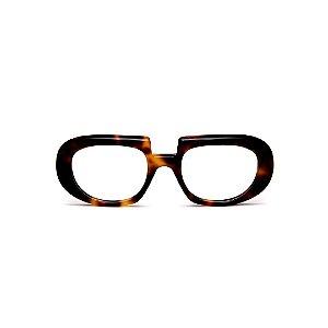 Armação para óculos de Grau Gustavo Eyewear G116 9. Cor: Animal print. Haste animal print.
