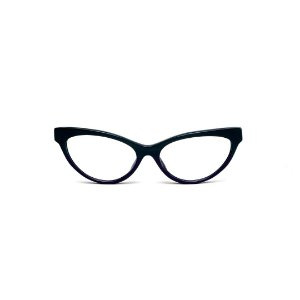 Armação para óculos de Grau Gustavo Eyewear G129 2. Cor: Verde e cinza opaco. Haste preta.