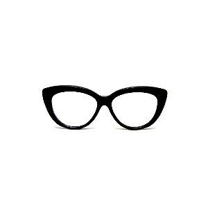 Armação para óculos de Grau Gustavo Eyewear G117 3. Cor: Preto. Haste preta.