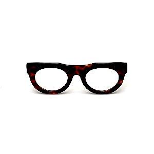 Armação para óculos de Grau Gustavo Eyewear G120 8. Cor: Animal print. Haste animal print.
