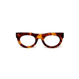 Armação para óculos de Grau Gustavo Eyewear G120 16. Cor: Animal print. Haste animal print.