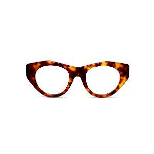 Armação para óculos de Grau Gustavo Eyewear G119 5. Cor: Animal print. Haste animal print.