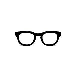 Armação para óculos de Grau Gustavo Eyewear G41 3. Cor: Preto. Haste preta.