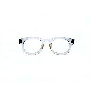 Armação para óculos de Grau Gustavo Eyewear G41 6. Cor: Cristal translúcido. Haste animal print.