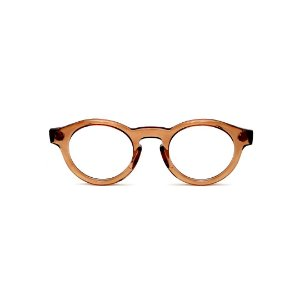 Armação para óculos de Grau Gustavo Eyewear G29 6. Cor: Âmbar translúcido. Haste animal print.