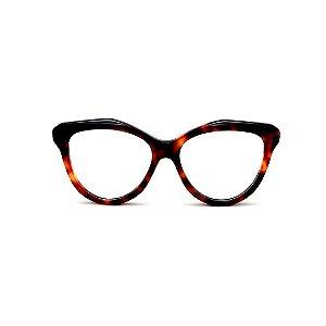 Armação para óculos de Grau Gustavo Eyewear G126 4. Cor: Animal print. Haste animal print.