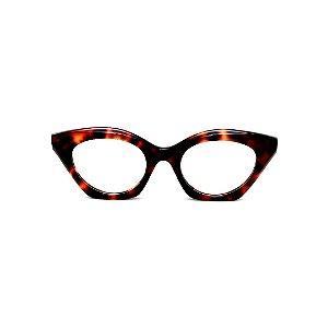 Armação para óculos de Grau Gustavo Eyewear G71 25. Cor: Animal print. Haste animal print.