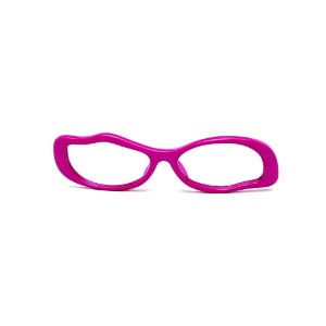 Armação para óculos de Grau Gustavo Eyewear G15 11. Cor: Violeta opaco. Haste preta.