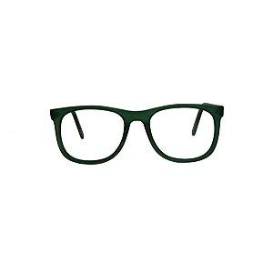 Armação para óculos de Grau Gustavo Eyewear G84 100. Modelo masculino. Cor: Verde fosco. Haste verde fosco.