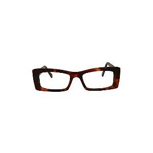 Armação para óculos de Grau Gustavo Eyewear G35 7000. Cor: Animal print. Haste animal print.