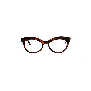 Armação para óculos de Grau Gustavo Eyewear G38 800. Cor: Animal print. Haste animal print.