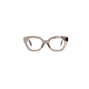 Armação para óculos de Grau Gustavo Eyewear G70 20. Cor: Cinza opaco com cristal. Haste cristal