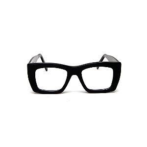 Armação para óculos de Grau Gustavo Eyewear G79 7. Cor: Preto. Haste preta.