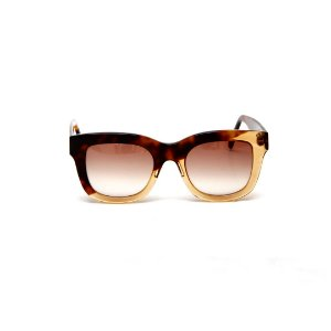Óculos de sol Gustavo Eyewear G57 9. Cor: Animal print com âmbar. Haste animal print. Lentes marrom.