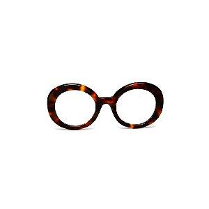 Armação para óculos de Grau Gustavo Eyewear G61 24. Cor: Animal print. Haste animal print.