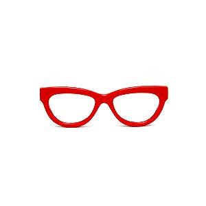 Armação para óculos de Grau Gustavo Eyewear G73 4. Cor: Vermelho opaco. Haste animal print.