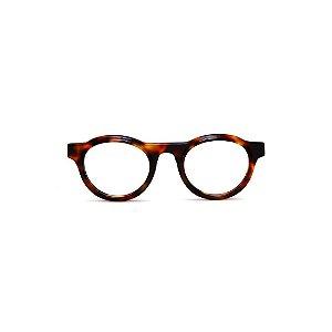 Armação para óculos de Grau Gustavo Eyewear G77 3. Cor: Animal print. Haste animal print.