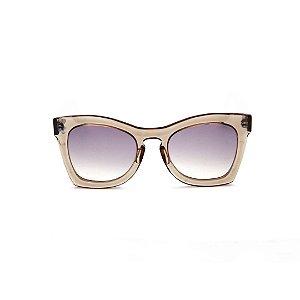 Óculos de sol Gustavo Eyewear G75 5. Cor: Fumê. Haste preta. Lentes cinza.