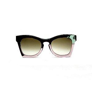 Óculos de sol Gustavo Eyewear G75 7 Cor: Preto, acqua e fumê. Haste preta. Lentes cinza.