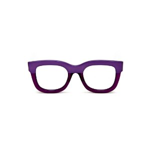 Armação para óculos de Grau Gustavo Eyewear G57 10. Cor: Roxo opaco e translúcido. Haste animal print.