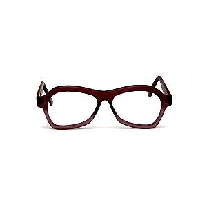 Armação para óculos de Grau Gustavo Eyewear G105 100. Cor: Marrom e fumê. Haste marrom. Masculino
