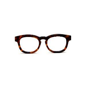 Armação para óculos de Grau Gustavo Eyewear G94 7. Cor: Animal print. Haste animal print.