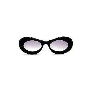Óculos de sol Gustavo Eyewear G89 14. Cor: Preto. Haste animal print. Lentes cinza.