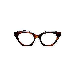 Armação para óculos de Grau Gustavo Eyewear G71 22. Cor: Animal print. Haste preta.