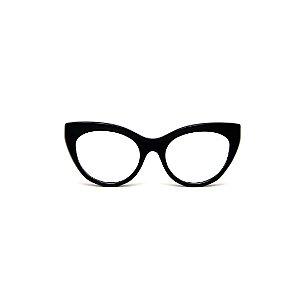 Armação para óculos de Grau Gustavo Eyewear G65 2. Cor: Preto. Haste preta.